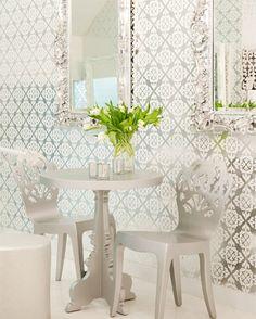 Brocade Home Wallpaper Chair