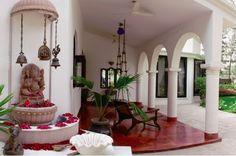 Indian Interior Design, Indian Home Design, Ethnic Home Decor, Indian Home Decor, Pooja Room Door Design, Indian Interiors, Puja Room, Indian Homes, Home Decor Inspiration