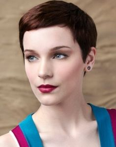 Lovely Super-Short Hair Style 2014