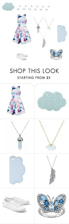 """""""Cloudy Day"""" by sirengem ❤ liked on Polyvore featuring Yumi, Conran, STELLA McCARTNEY, Stone Paris and Lacoste"""