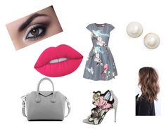 """Flower"" by lorenzia14 on Polyvore featuring Ted Baker, Pierre Hardy, Givenchy, Kate Spade and Lime Crime"