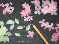 Selma's Stamping Corner and Floral Designs: Tutorial on Making Punched Vellum Flowers Card Making Tutorials, Card Making Techniques, Making Ideas, Handmade Flowers, Diy Flowers, Fabric Flowers, Origami, Flower Stamp, Flower Cards