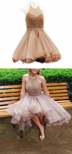 Charming Prom Dress, Tulle Prom Dress, Short Prom Gowns, Sexy Homecoming Dress from fashiondresseess Pretty Homecoming Dresses, Cheap Short Prom Dresses, Two Piece Homecoming Dress, Tulle Prom Dress, Formal Dresses For Women, Homecoming Ideas, Graduation Dresses, Prom Gowns, Dress Formal