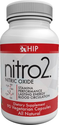 HIP nitro2. is formulated with L-arginine.   L-arginine is best known for its cardiovascular benefits. In the body, l-arginine is converted to nitric oxide, which relaxes the blood vessels. This reduces stress on the heart and improves circulation.