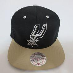 huge discount 023f3 7fdc9 NBA Mitchell   Ness Throwback San Antonio Spurs Black Strapback Hat Cap for  sale online   eBay