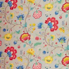 Pip Floral Fantasy Grey, behang