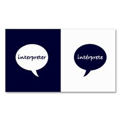 1000 images about Interpreter Business Cards on Pinterest