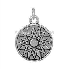 Top Selling Alloy Antique Silver Tone Round Disk Plate Jewelry Making Charm Accessories