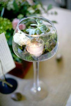 succulent candel wedding centerpiece for rustic wedding ceremony