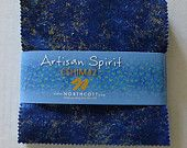 "Artisan Spirit~Blue Lagoon Cotton Fabric~Charm Pack, 42~ 5"" squares~by Northcott Fast Shipping, CO207"