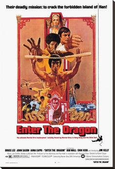 Dragon A1 SIZE BRUCE LEE kung fu quote film poster art print movie painting