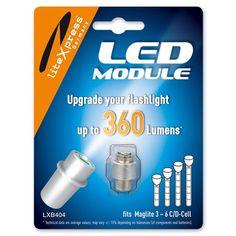 LiteXpress LED Upgrade Modul / 278 Lumen für 2 C/D-Cell Maglite Taschenlampen Laser Led, Usb, Led Module, Save Energy, Flashlight, Personal Care, Ebay, Fitness, Amazon