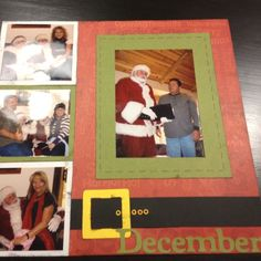 Christmas scrapbook idea