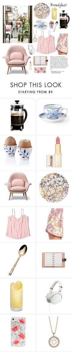 """Easy Sunday Morning"" by linmari ❤ liked on Polyvore featuring interior, interiors, interior design, home, home decor, interior decorating, Primula, Royal Copenhagen, L'Oréal Paris and Hollister Co."