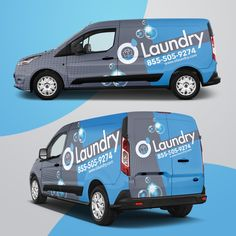 Design a van wrap graphic for a laundry pickup & delivery service Pickup And Delivery Service, Auto Service, Ford Transit, Van Signwriting, Vehicle Signage, Vehicle Branding, Lamborghini, Bakery Branding, Wash And Fold