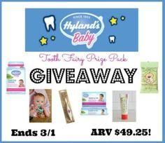 Hyland's Natural Oral Care Prize Pack GIVEAWAY #HylandsHealth