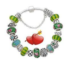 New Silver Valentine ROSE European Bead Charm Bracelet. Starting at $12 on Tophatter.com!