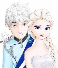"""Jelsa Wedding <3  Jack: """"My Queen."""" Elsa: """"My Guardian."""""""