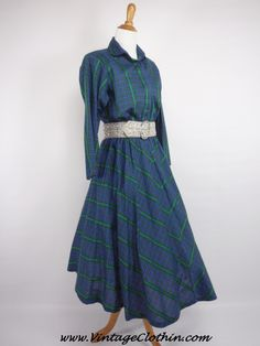 1980s does 1950s Bedford Fair Plaid Rockabilly Dress,   http://shop.vintageclothin.com/1980s-does-1950s-Bedford-Fair-Plaid-Rockabilly-Dress-1950s-VC1221.htm  #1980sdress #vintagedress #1950sdress  #1980 #1980s #1950 #1950s  #Dress #vintagedress #vintageclothes #vintageshop #vintagestore #vintageclothing #vintageclothin  #vintage #dressvintage #vintageclothin.com #vintagefashion #forsale #buyme #Plaid #vintageseller #rockabilly #pinup #Plaiddress  #BedfordFair #BedfordFairDress #green #blue…