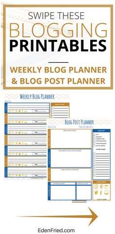 Who doesn't love some good freebies, people? Snag this weekly blog scheduler and daily blog planner template. Fresh off the press and ready for you to use!