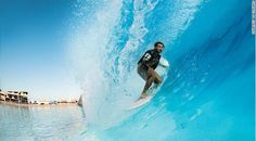 The artificial surf pool (number facility at Wadi Adventure in the United Arab Emirates. Courtesy of CNN's World's 50 best surf spots. Surf Pool, Wave Pool, Surfing Destinations, Best Surfing Spots, Cape Hatteras Lighthouse, Water Surfing, Surf Trip, Surf Travel, The Great Outdoors
