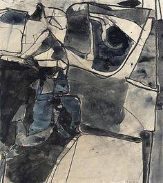 laflaneuse8:    Richard Diebenkorn,Untitled, 1952