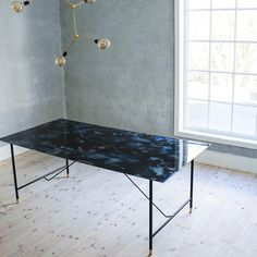 "242 Synes godt om, 8 kommentarer – STUDIO AMANDA LILHOLT (@amandalilholt) på Instagram: ""Acetone dining table with brass details. Every tabletop is handmade and unique. You can order at…"""