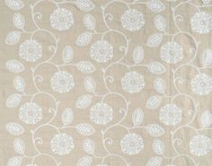 liz embroidery in blanc from pierre frey #linen #neutral #floral