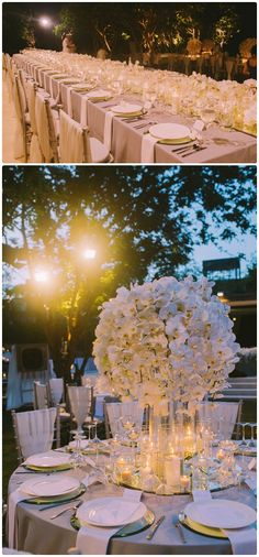 Wedding Table Flower Centerpieces White Elegance | visit www.lovelyweddingideas.com