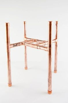 Simple DIY Copper Pipes Plant Stand