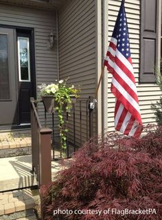 Install A Flag Pole Bracket On Vinyl Siding Ideal House