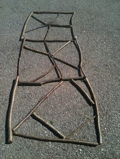 An outdoor shape activity with sticks — Creative STAR Learning | I'm a teacher, get me OUTSIDE here!