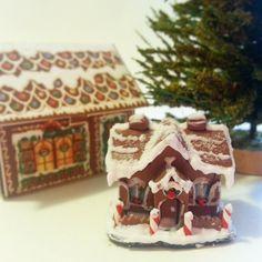 Miniature gingerbread house / Christmas miniature by NatAcademy