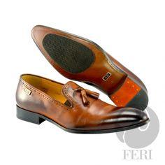 Global Wealth Trade Corporation - FERI Designer Lines Leather Tassel, Cowhide Leather, Luxury Shoes, Luxury Jewelry, Men's Shoes, Dress Shoes, Tassel Loafers, Shoe Collection, Black Heels
