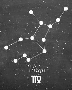 Virgo constellation...Kinda looks like someone falling off a cliff... fitting, as Virgo tends to be the over-thinker, constantly fighting to stay balanced!