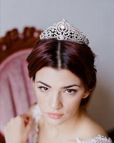 Full Bridal Crown, Swarovski Crystal Wedding Crown, GEORGIA Crown, Crystal…