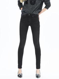 Black High-Waist Skinny Jean | Banana Republic size small