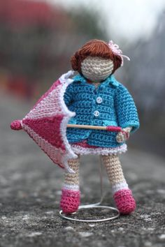 Crochet art doll.  OOAK. Handmade collectable by FancyKnittles, £28.00