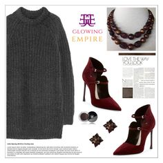 """""""Awesome Necklace and Earrings / Glowing Empire"""" by sabinakopic ❤ liked on Polyvore featuring NLST, Christian Dior, Chanel and vintage"""