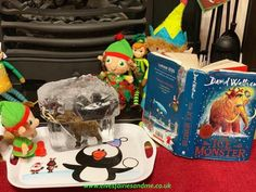 We read ice monster last year so the elves brought the book to life. The Elf, Elf On The Shelf, Ice Monster, Woodland Elf, Father Christmas, Magical Creatures, Family Traditions, Easter Bunny, Elves