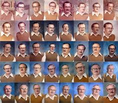 A teacher accidentally wore the same outfit twice for picture day, so his wife dared him to keep the joke going. He did...for 40 YEARS