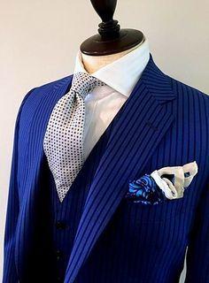 azabu tailor blue pinstripe - Google Search
