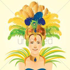 carnival headdress vector - Google Search
