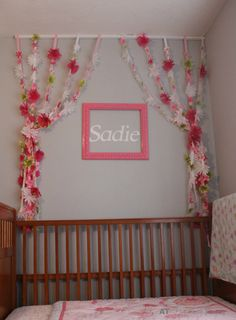 Add flowery streamers to your little girl's room for a touch of whimsy.