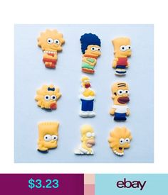 23f56c92ade5b Girls  Accessories The Simpsons Pvc Shoe Charms For Bracelets Bands Croc  Jibbitz