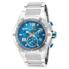 Invicta Men's Speedway Blue Dial Steel Bracelet Chronograph Watch INV-643-19527