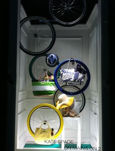 "Kate Spade on main & on 2,""life is like a ten speed bicycle,most of us have gears we never use"", pinned by Ton van der Veer"