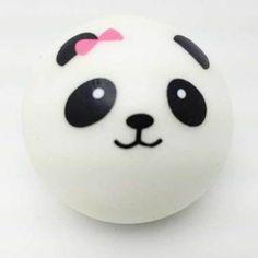 Kawaii Squishies - Panda Bun - With Bow - Large