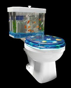 Kitschy Fish Tank Toilet