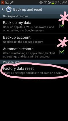 How to Factory Reset Samsung Galaxy S3 and Galaxy Note 2 ---- (+/pin for reference - BACKUP info etc)